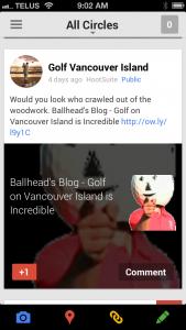 Google+ Mobile Screen Capture