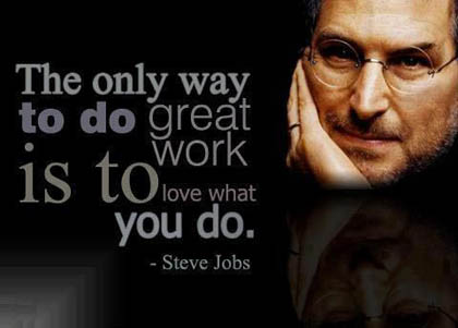 Inspirational Quote from Steve Jobs - Love what you do!