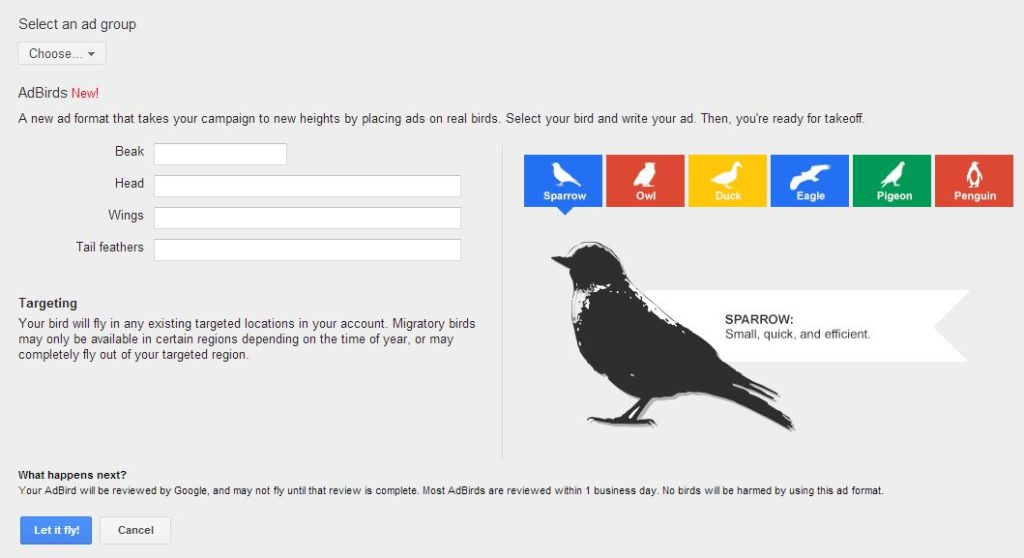 Google Adbirds