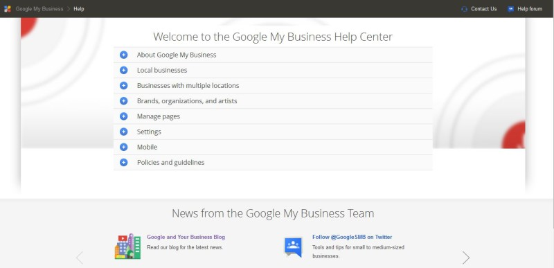Google My Business Help Centre
