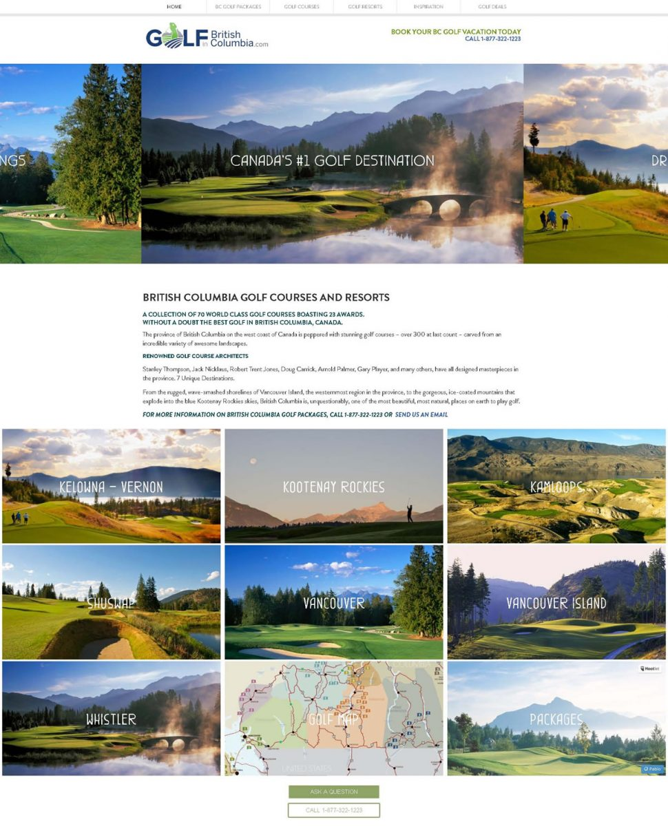 Web Advisors Client - British Columbia Golf Marketing Alliance