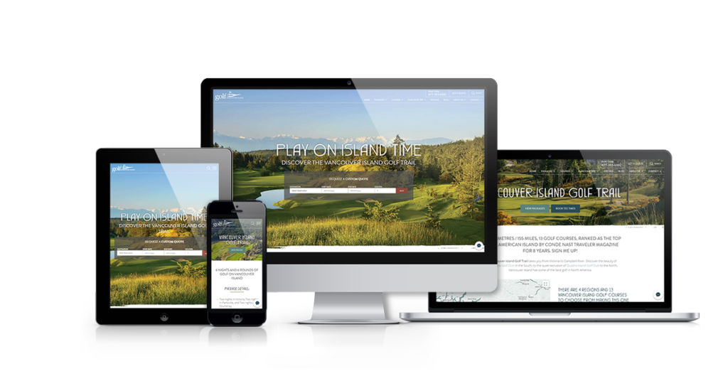 Golf Vancouver Island Website Redesign