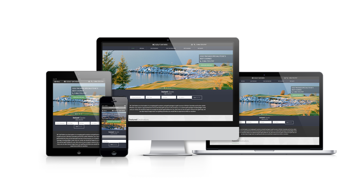 BC Golf Safaris Responsive Website