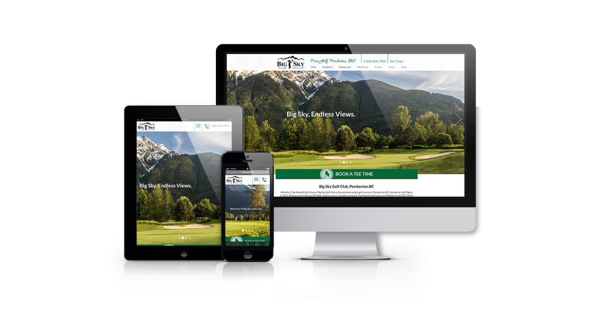 New Website For Big Sky Golf Club