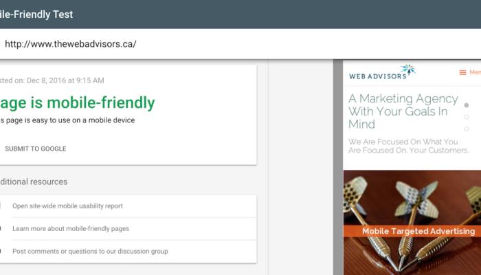 The Web Advisors Mobile Friendly Website