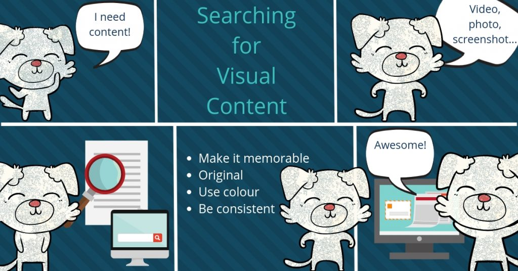 Cartoon Visual Content Marketing
