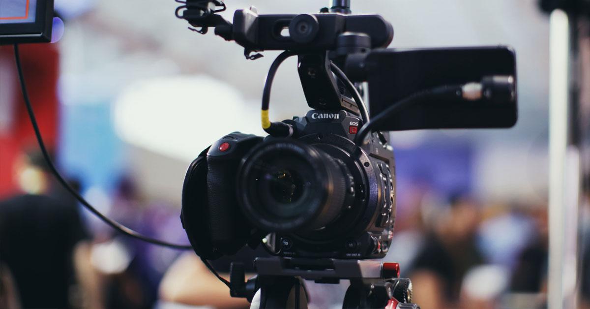 Canon camera on a tripod