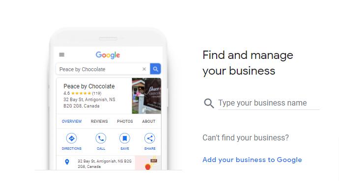 Google find your business screenshot